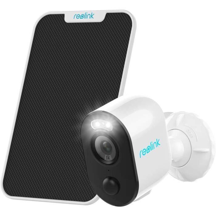 Reolink Caméra surveillance solaire wifi exterieur Batterie Spotlight TimeLapse Vision Nocturne DetectionPIR Argus 3+Panneau Solaire