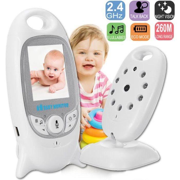 TEMPSA Babyphone Camera Surveillance Nouveau Né Enfant Sans Fil LCD Écoute bébé Vision Nocturneure