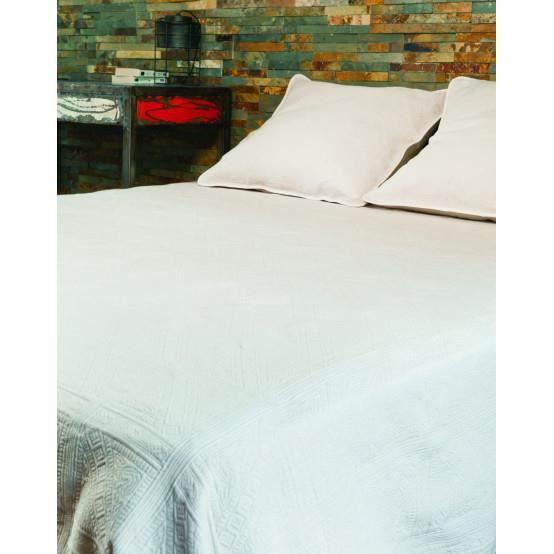 Couvre lit CHAMPSAUR - Couleur - BLANC, Taille - 180X250