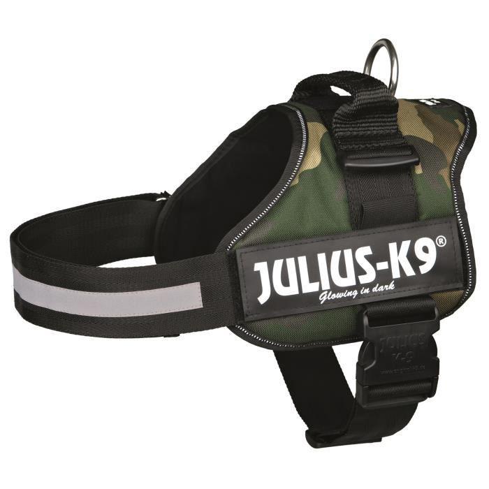 Harnais Power Julius-K9 - 1 - L : 66-85 cm-50 mm - Camouflage - Pour chien