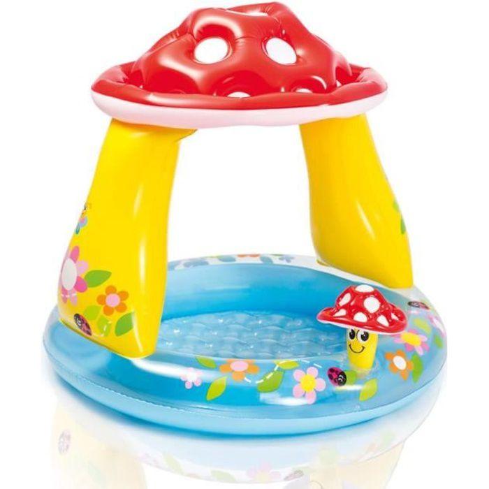 Intex Piscine pour bébé en forme de champignon 57114NP Multicolore