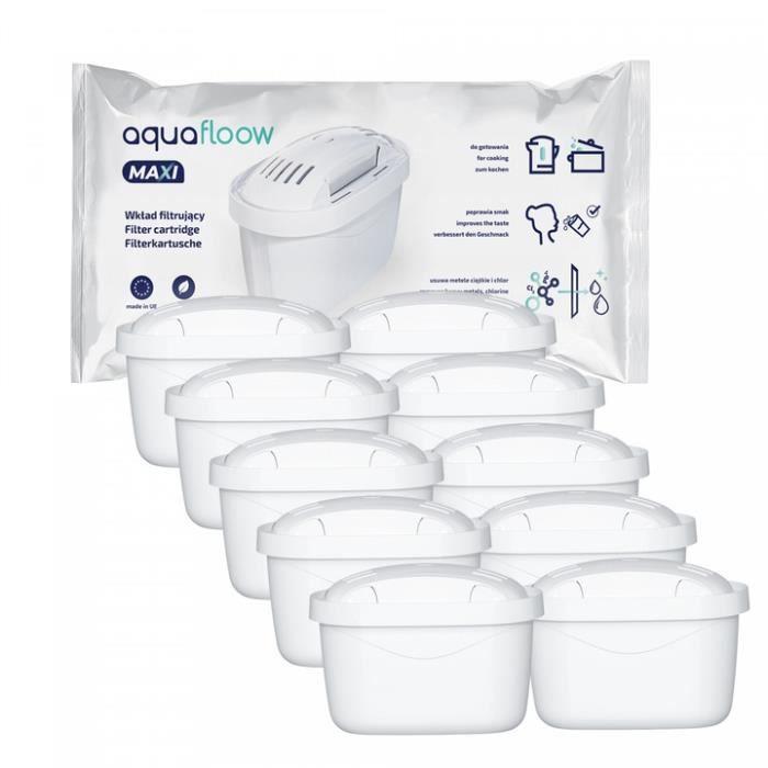Wessper Aquafloow Cartouches filtrantes, pièce de rechange pour Bosch TAS8520, Brita MAXTRA, Brita Marella, Pack 10