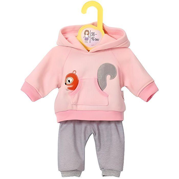 Zapf Creation Dolly Moda tenue de sport rose taille 38-46 cm