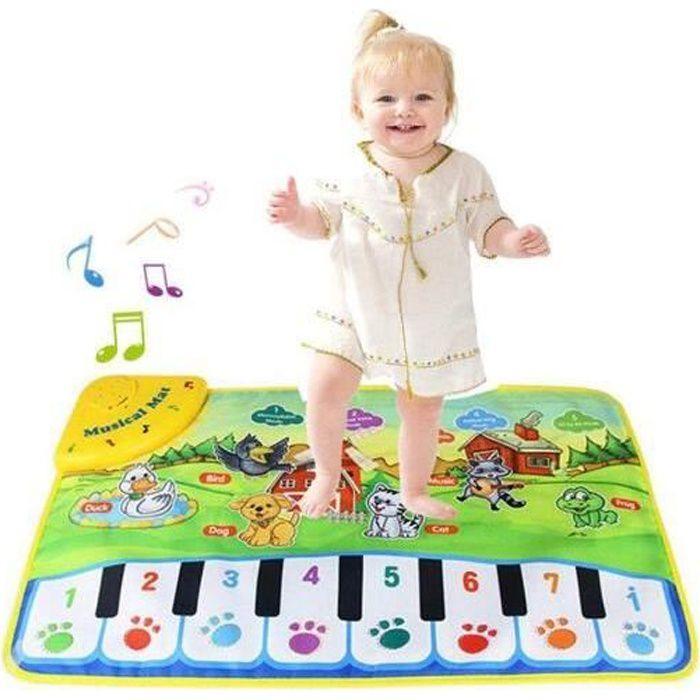 Tapis de Piano Musical, Jouet de Tapis de Musique de Danse électronique pour Enfants, éducatif Couverture Musicale de Tapis de Jeu p