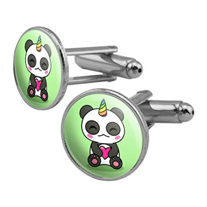 Bouton De Manchette X5iwm Mignon Kawaii Licorne Panda Tenue Ronds Hommes Cufflink Set Couleur Argent Achat Vente Bouton De Manchette Bouton De Manchette Mignon