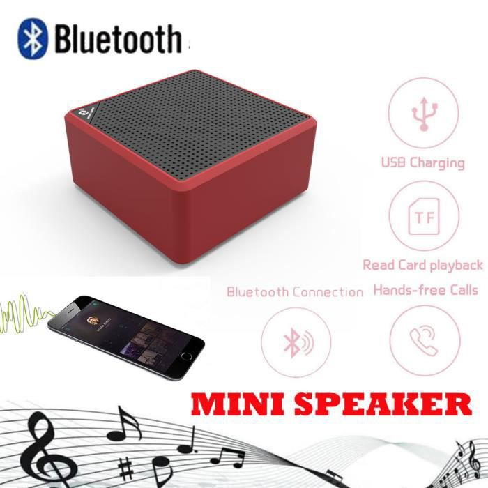Portable Bluetooth Sans Fil Hi-fi Haut-parleur Superbe Son Hd & Bass Outdoor Stereo _de4062