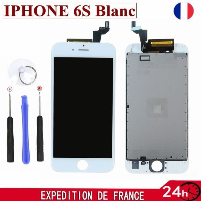 cran lcd vitre tactile pour iphone 6s blanc sur chassis outils achat pi ce d tach e pas. Black Bedroom Furniture Sets. Home Design Ideas