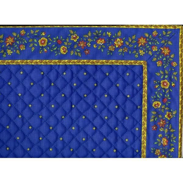 Set de table exclusif cadr bleu jaune fleur bleu achat for Set de table bleu