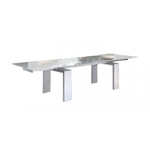 Table verre extensible elegance 8 200 300 100 7 achat for Table a rallonges integrees
