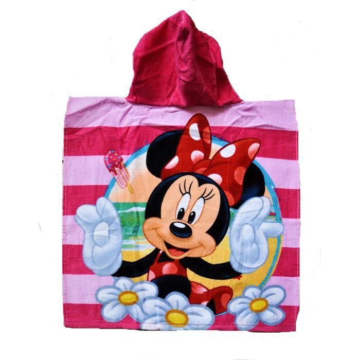 disney poncho sortie de bain minnie pour enfant fille. Black Bedroom Furniture Sets. Home Design Ideas