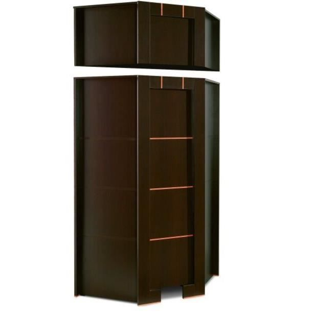 armoire dressing d angle 1 porte moderne wenge avec. Black Bedroom Furniture Sets. Home Design Ideas