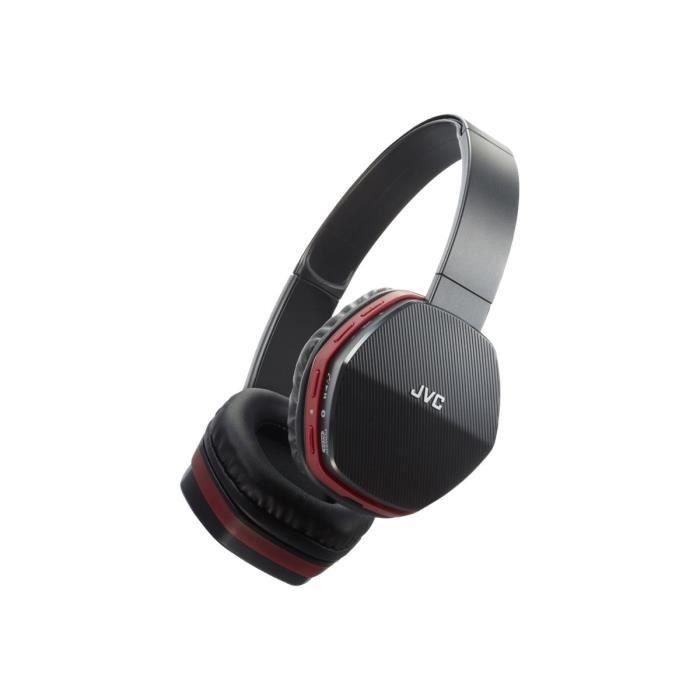 CASQUE - ÉCOUTEURS JVC HA-SBT5 Casque avec micro sur-oreille sans fil