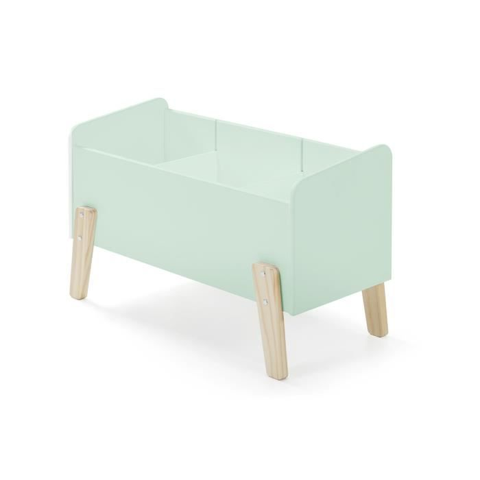kiddy coffre jouets scandinave en bois pin massif vert menthe l 80 cm achat vente coffre. Black Bedroom Furniture Sets. Home Design Ideas