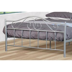 lit metal achat vente lit metal pas cher cdiscount. Black Bedroom Furniture Sets. Home Design Ideas