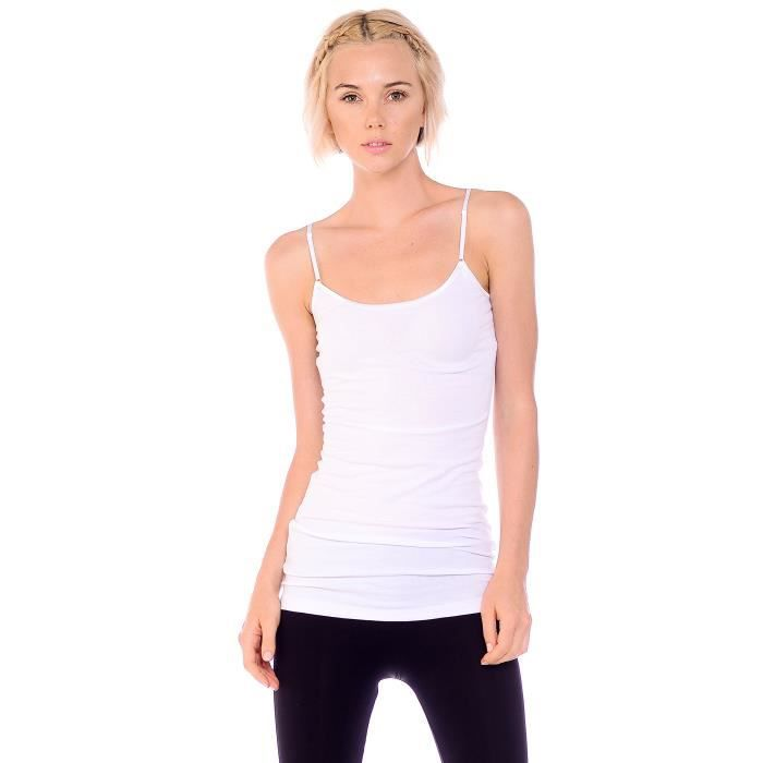 Tank Adjustable Spaghetti 2 Strap Women's Pack Long Top Junior 38 Plus And Wmjsv 4 Taille Yqvwf