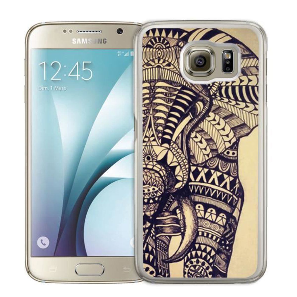 Coque Samsung Galaxy S7 : Elephant Azteque