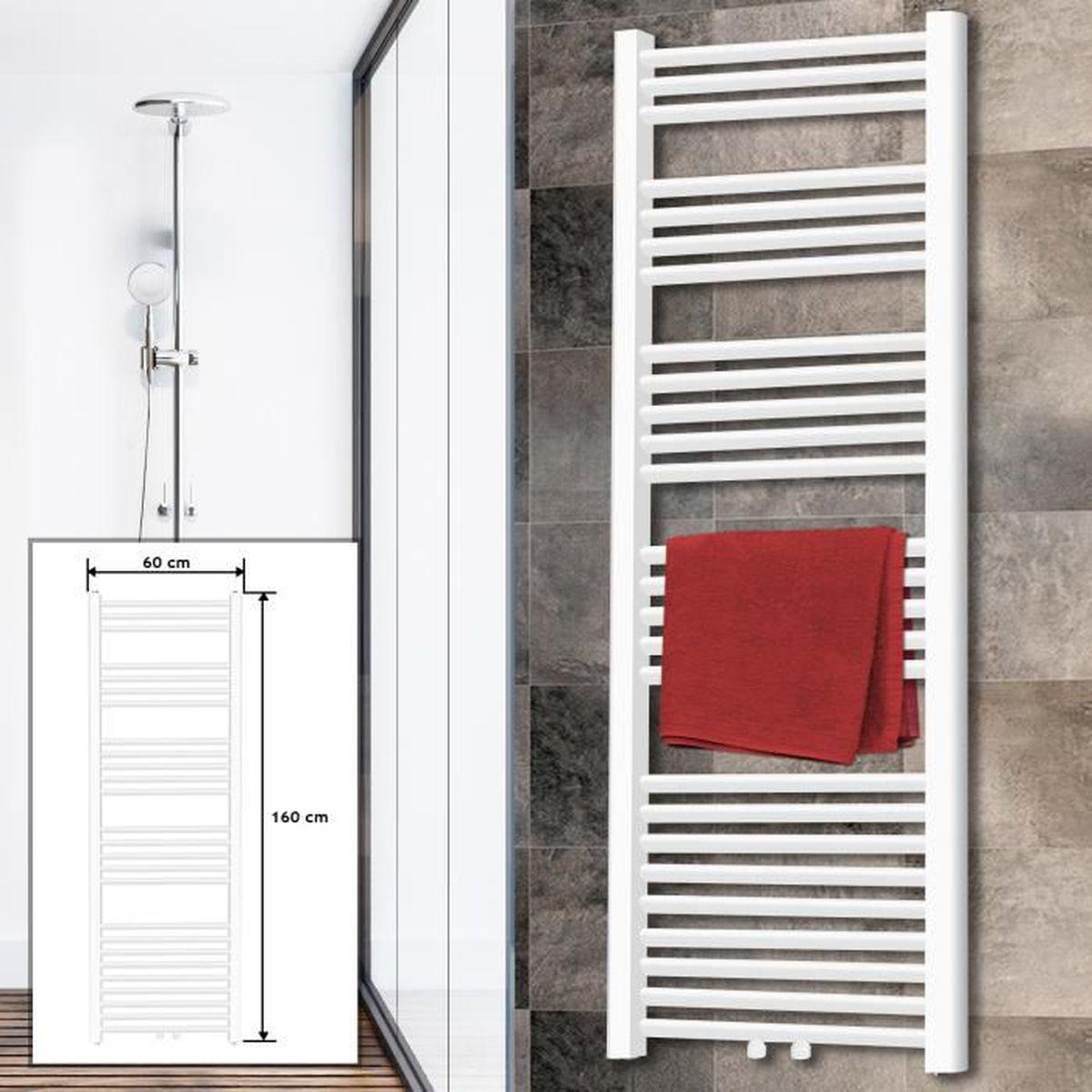 Sèche-Serviette 12x12 mm Radiateur Chauffe-Serviette pour Salle