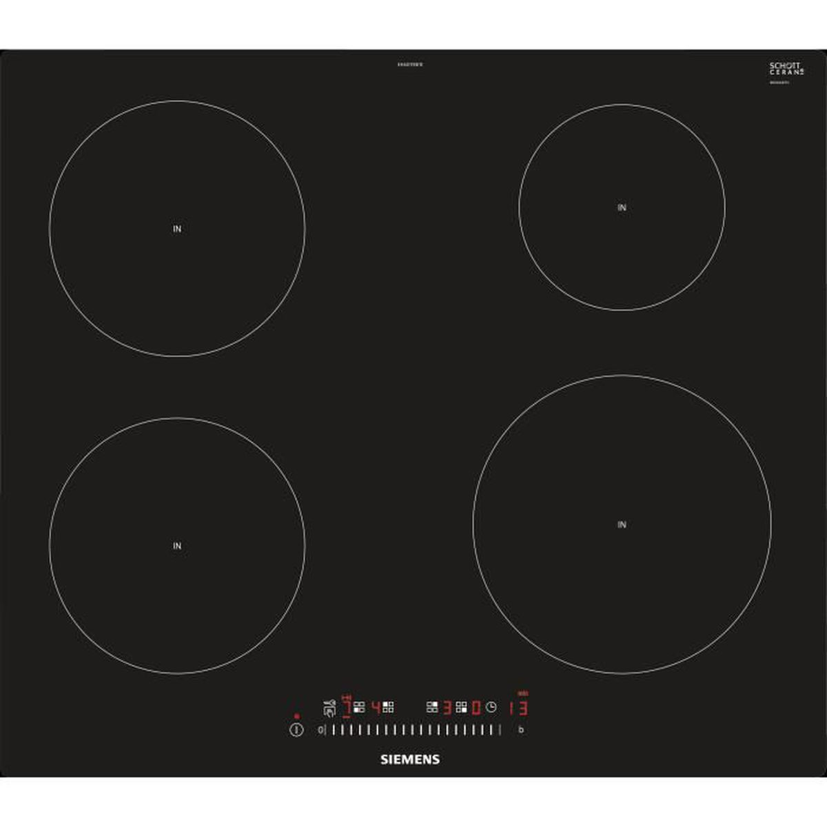 Achat Plaque Induction Pas Cher table de cuisson induction siemens eh601feb1e