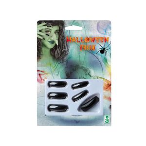 ATOSA - Faux ongles Halloween Adultes - Noir