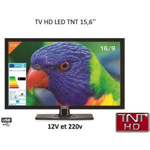 Téléviseur pour véhicule Télévision TV HD LED 39,6 CM pour camping car 2…