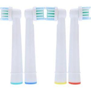 BROSSE A DENTS ÉLEC 4pcs Haute qualité Tête de brosse à dents électriq