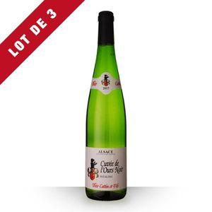 VIN BLANC Lot de 3 - Théo Cattin Cuvée de l'Ours Riesling 20