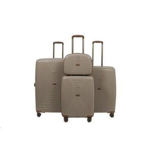 SET DE VALISES LYS -set de 4 valise rigide taupe polypropylène  v