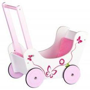 JOUET À TIRER Chariot de poupée  Poussette pour Poupée en bois