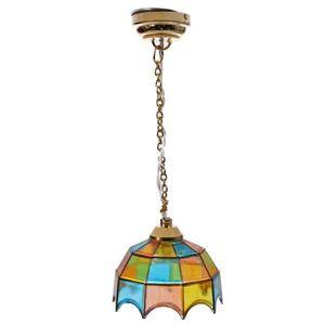 Metal 1:12 Maison de poupee miniature plafonnier Modeleavec un multicolore p 28