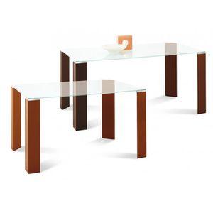 TABLE À MANGER SEULE Table rectangulaire plateau verre 160 cm Dylan …