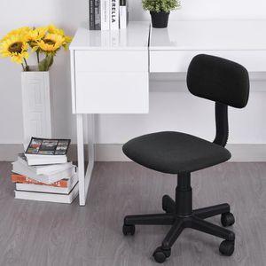 CHAISE DE BUREAU Chaise De Bureau Pivotante - Noir - En Plastique R