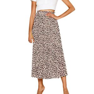 JUPE Femmes Jupe taille élastique Leopard Vintage A-Lar