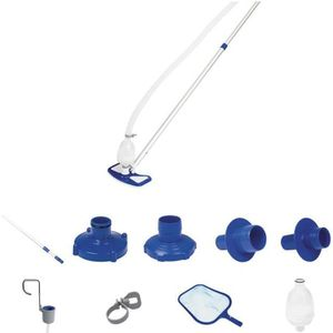 ENTRETIEN MANUEL  BESTWAY Kit nettoyage piscine - Brosse aspirateur