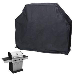 HOUSSE - BÂCHE Noir 145x61x117cm  Housse Barbecue BBQ Protection