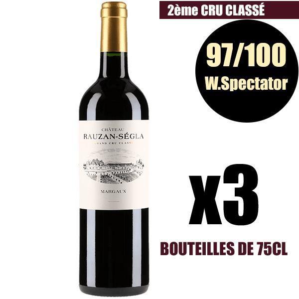 X3 Château Rauzan-Ségla 2005 75 cl AOC Margaux Rouge 2ème Cru Classé Vin Rouge