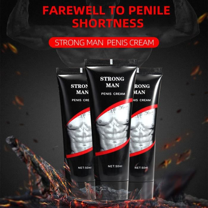【Jouets sexuels】Red Man PENIS CREAM Pommade nourrissante Crème de massage pour homme Huile de massage 50ML _xiao2762