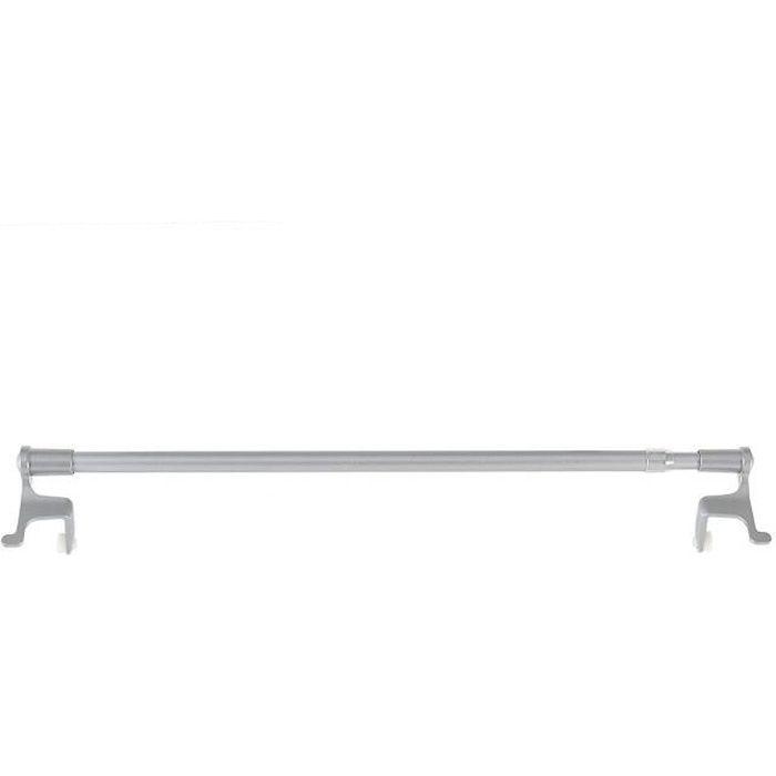 Lot de 2 tringles a rideaux autobloquantes sans perçage Fix vit (Extensible de 50 a 80 cm, grise)
