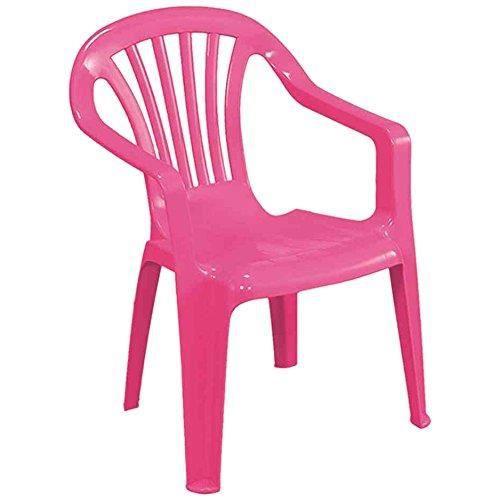 Chaise enfant, plastique, rose