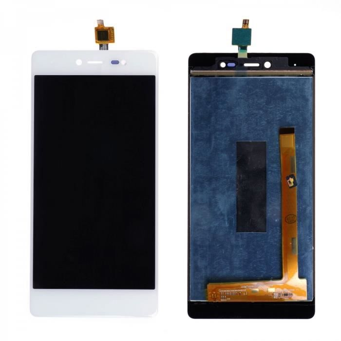 Ecran Complet LCD + Tactile pour WIKO FEVER 4G Blanc.