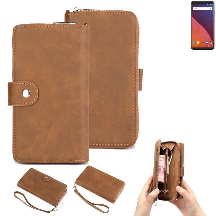 Étui portefeuille pour téléphone portable Wiko View 32 GB Housse de protection pare-chocs 264151