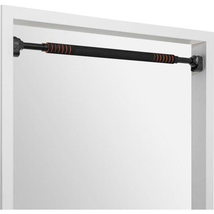 Faultier - Barre de traction télescopique pour cadre de porte - réglable de 78 á 110 cm- Jusqu'à 100 kg - Acier noir