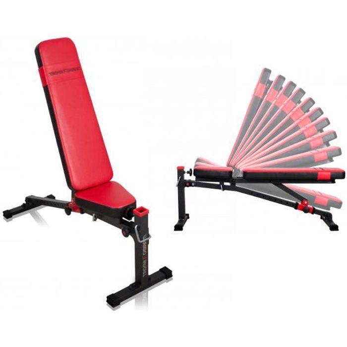 Banc de musculation réglable pliable MS-L114 Marbo-Sport home gym exercice