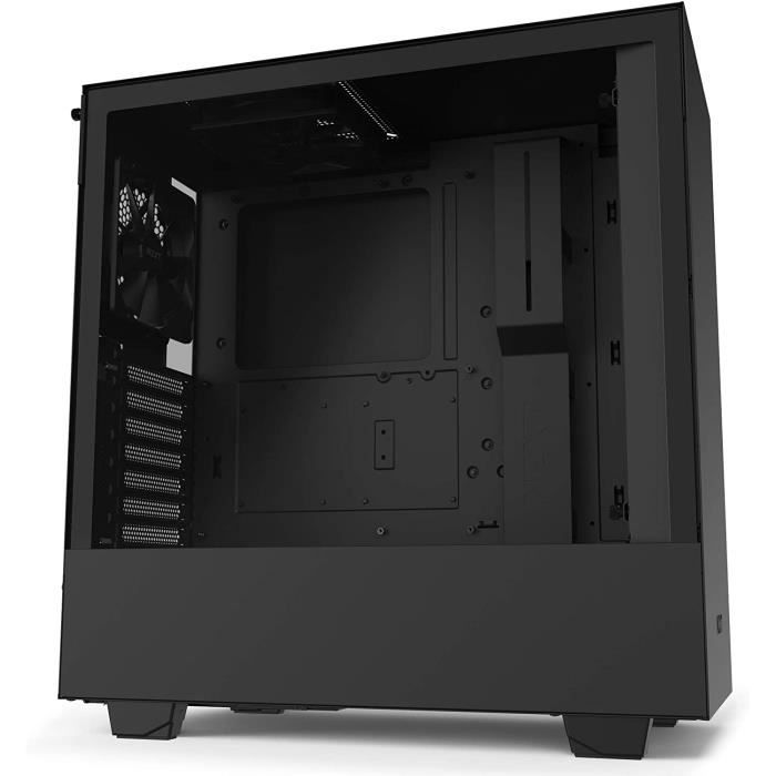 BOITIER PC NZXT H510 - Bo&icirctier PC Gaming ATX Moyenne Tour Compact - Port I-O USB Type-C en Fa&ccedilade - Panneau lat&eac5