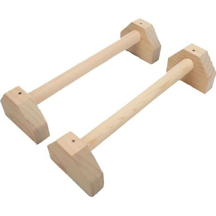 Push Up Poignées Parallettes en bois Push Up Bar Calisthenics Handstand Yoga 77