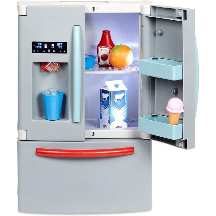 Premier Frigo - Réfrigérateur interactif & réaliste - Avec lumière & sons - Appareil ménager de simulation pour enfants