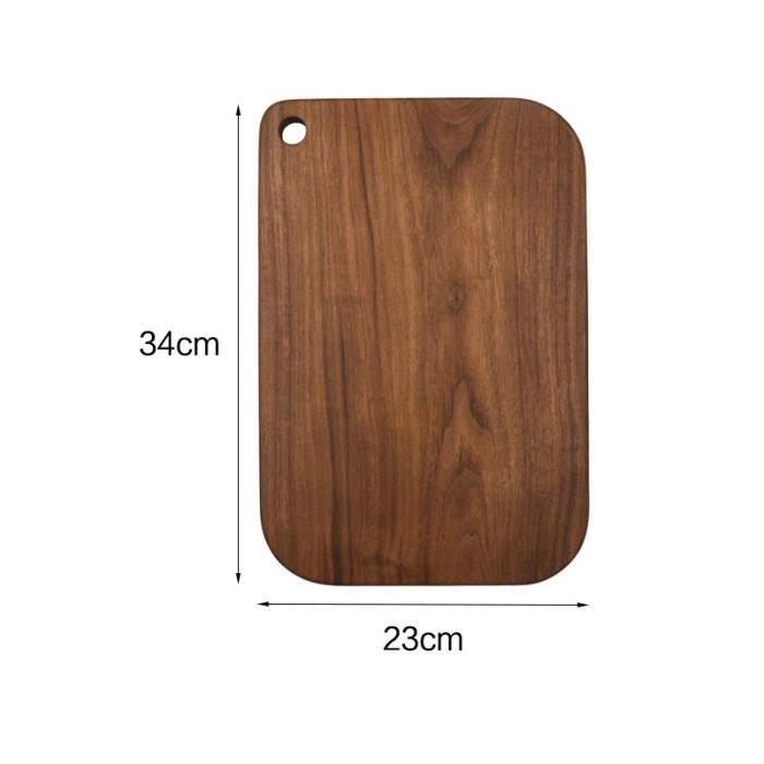 Planche à découper,Planches à découper bois entier coupe fruits pain assiette planche à découper noyer noir planche à - Type A-7