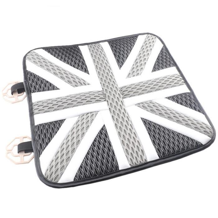 1pc Grey Union Jack -Housses de siège de voiture en cuir de soie glacée, pour Mini Cooper JCW One + S Countryman Paceman R60 R61 R55