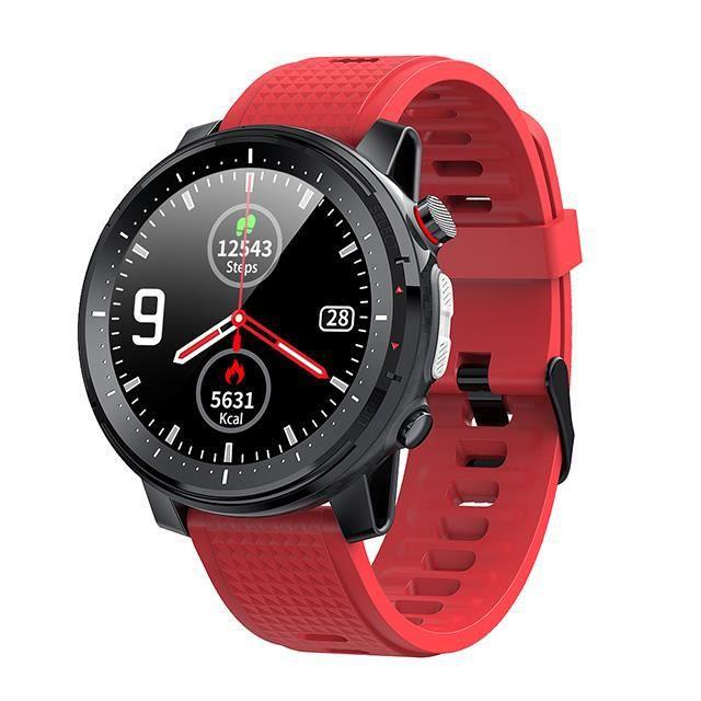 Extérieur montre connectée tactile pour hommes, horloge de sport, moniteur de fréquence cardiaque, étanche
