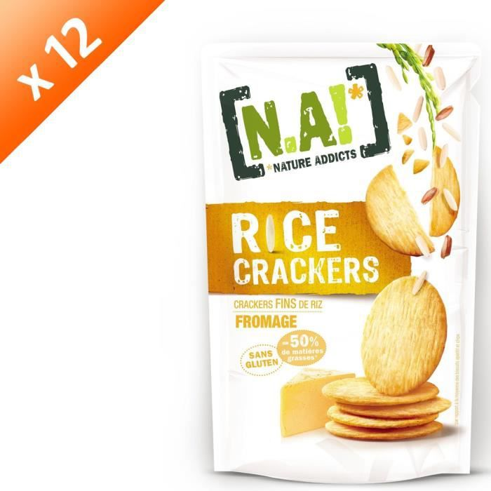 [LOT DE 12] N.A Rice Crackers Sachet de Fromage - 70 g