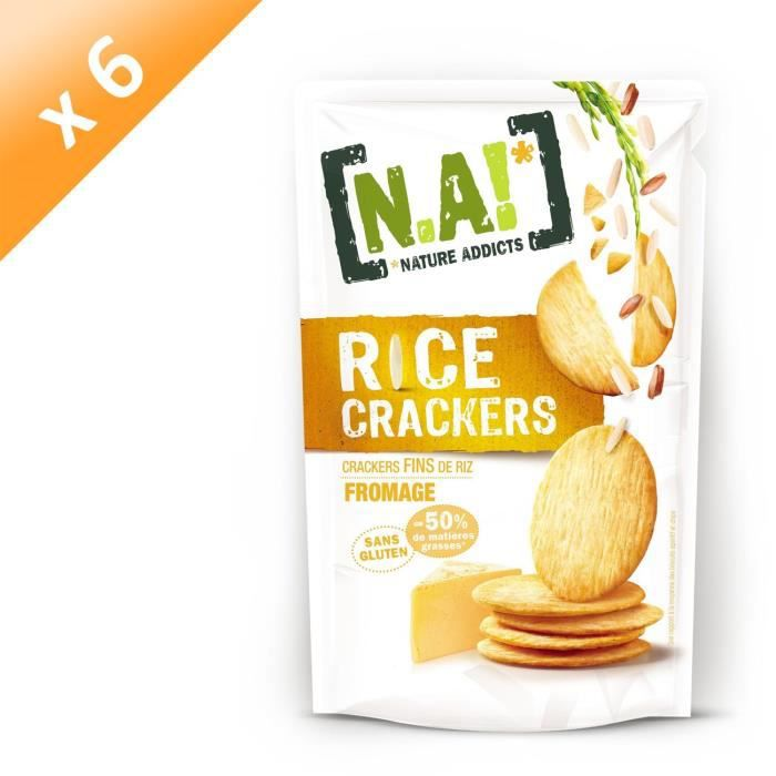 [LOT DE 6] N.A Rice Crackers Sachet de Fromage - 70 g